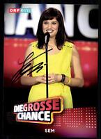 Sem Die Grosse Chance Autogrammkarte Original Signiert ## BC 10951