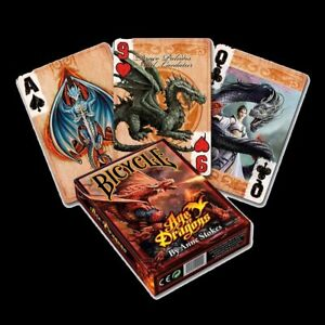 *AGE OF DRAGONS* Full Deck Of ANNE STOKES Goth Fantasy Art Bicycle Playing Cards