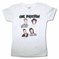 One Direction White Boxes Band Image Girl's Juniors T Shirt Boy Band Pop Music
