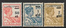 Curacao stamps 1929 NVPH Airmail 1-3  MLH  VF