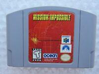*GREAT* Mission Impossible Nintendo 64 N64 Video Game Super Fun Retro Movie