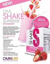 OML SHAKE meal replacement Strawberry/ Malteada  Nutritional Fresa de Omnilife