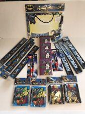 Batman Superman Joker Office School Supply Bundle - Dc Comics Pens