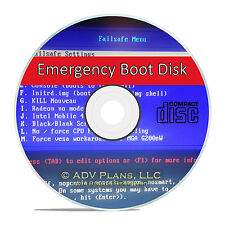 Boot, Format, Restore Emergency Recovery Hard Drive Utility Diagnostics Disk CD