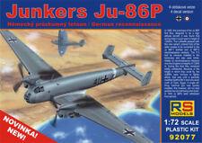RS Models 1/72 Ju-86P German High Altitude Recon Bomber Model Kit 92077