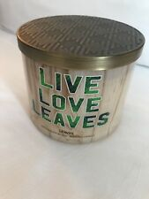 Bath And Body Works 3 Wick Candle Live Love Leaves New