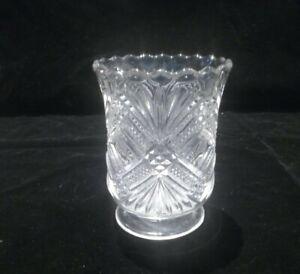 Spooner clear pressed glass vintage original