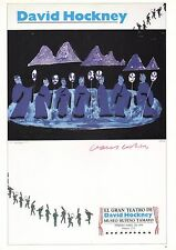 DAVID HOCKNEY POSTER PRINT STAGE SET GRAND THEATER MEXICO CITY MASKED FIGURES