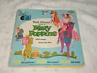 1964 Early Read Along Book & Record Walt Disney's Story of Mary Poppins LLP302