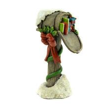 Fairy Garden Christmas Miniature - Christmas Wood Mail Box