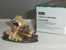 BRITAINS 17386 US ARMY DDAY MEDIC + WOUNDED WORLD WAR TWO TOY SOLDIER FIGURE SET