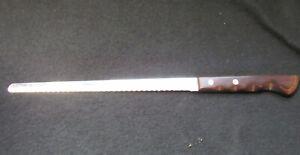 """Vintage 9"""" Blade * EKCO - FLINT * VANADIUM  Stainless serrated Bread Slicing"""