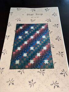 J J Stitches & Co. Star Trip Quilt Pattern 52 X 70