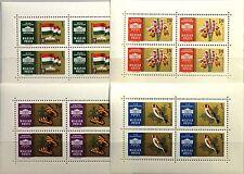 HUNGARY UNGARN 1961 Klb 1765-68 A MS 1392-95 Parliament Butterflies Birds MNH