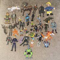 Job Lot Of Various Old Action Figures - Batman Marvel + Other Modern Vinatge (1)