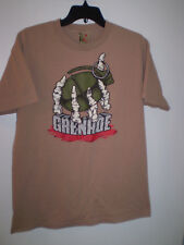 GRENADE Shirt Short sleeve M Medium TAN Skeleton hand Graphics Grenadegloves