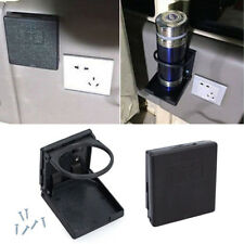 2x Black Folding Case Wall Cup Holder Box Universal Car Boat Caravan Accessories