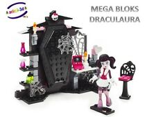 MEGA BLOKS MONSTER HIGH VAMPTASTIC ROOM 128PCS NEW FIGURE DRACULAURA FIGURINE