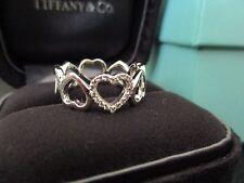 100% Genuine Tiffany & Co diamond heart ring-18k white gold