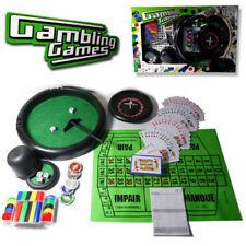 4 IN 1 GAMBLING GAMES ROULETTE BLACKJACK PROFESSIONAL POKER CHIP CARD PLAY SET