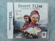 SECRET FILES 1 IL MISTERO DI TUNGUSKA NINTENDO DS DSi 2DS 3DS ITALIANO COMPLETO