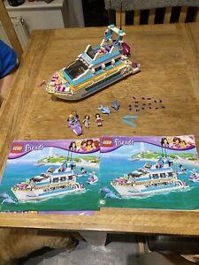 LEGO Friends Dolphin Cruiser (41015) Slight Fading No Stickers On Jet ski