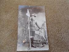 Early 1900s Boy Scouts Scouting RPPC England UK Winchester Scout w Weasel Flag