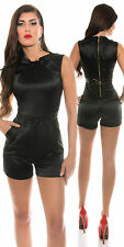 Black satin playsuit jumpsuit 10 or 12 playsuit sexy glitter party sexy shorts