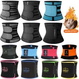 AU Women Waist Trainer Body Shaper Slim Sweat Belt Tummy Control Neoprene Girdle