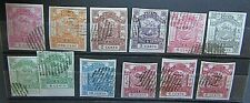 NORTH BORNEO - FINE COLLECTION OF 1880s/90s IMPERFS ON STOCKSHEET