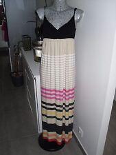 robe d'été de marque CAMAIEU longue taille M 38 40 42 rayé à rayure ajustable