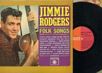 Rodgers, Jimmie - Folk Songs Vinyl LP Record Free Shipping