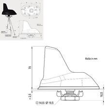 ABB Dachantenne Haifischflosse AM/FM DAB/ DAB+ (B lll) + Ub 12V 3775.01 Antenne