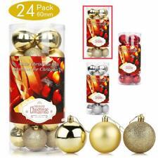 Christmas Balls Decoration 6cm Xmas Tree Hanging Ornaments Door Wall Bauble