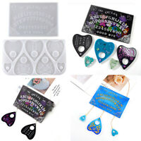 DIY Crystal Epoxy Divination Board Psychic Needle Mould Love Shape Silicone Mold