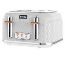 Breville VTT787 Curve 4 Slice Four Slot Toaster White & Rose Gold RRP£79
