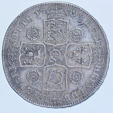 1739 HALFCROWN, BRITISH SILVER COIN FROM GEORGE II VF/GVF