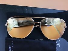 Quay Australia X Desi Perkins High Key Aviator Sunglasses Gold / Gold Brand New