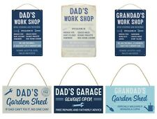 Dad Grandad Hanging Metal Sign Wall Plaque Fathers Day Birthday Gift