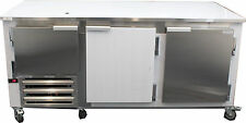 Coolman Commercial 2-1/2 Door Low Boy Worktop Refrigerator 72""