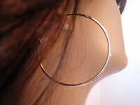 1.75 INCH HOOP EARRINGS silver TONE SIMPLE THIN HOOP EARRINGS