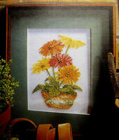 Pot of Gerberas Flowers – Semco counted cross-stitch kit