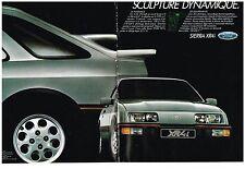 PUBLICITE  1983   FORD  SIERRA  XR4i   sculpture dynamique (2 pages)