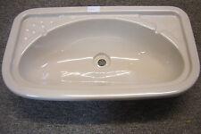 Caravan Motorhome Camper Boat Bathroom Ivory Plastic Vanity Sink SN15
