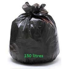 Sac poubelle BD noir 150 L 55 mic - carton de 100 sacs 150 litres