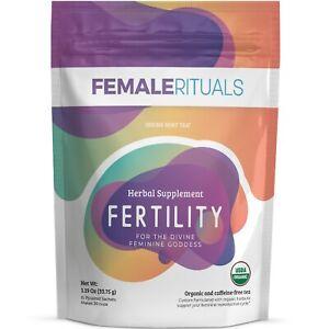 Fertility Tea - Female Rituals USDA Organic PCOS Tea Helps Regulate Cycles