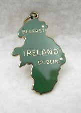 "Vintage Sterling Vermeil Enamel Belfast Dublin Ireland Irish 1"" Bracelet Charm"