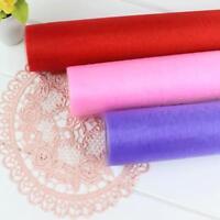 Organza Roll Sheer Fabric Wedding Chair Sash Bows Table Runner Party FM