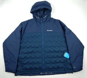 Columbia Grand Trek 650 Fill Down Jacket Omni-Heat Men's Blue 4X New $219