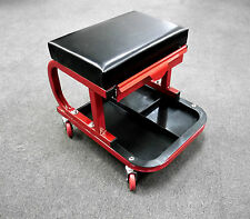 WORKSHOP STOOL SEAT & DRAWER WITH CASTERS PADDED SEAT CUSHION / PARTS TRAY